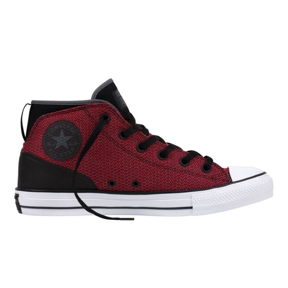 Converse Red & Black Syde Street Mid Logo Sneakers